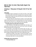 Đầu tư gián tiếp nước ngoài tại Việt Nam