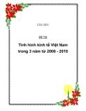 Baì tiểu luận: tình hình kinh tế Việt Nam trong 3 năm 2008 - 2010