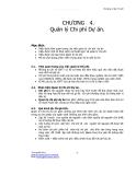 Giáo trình về quản lý dự án - Chương 4