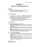 Giáo trình về quản lý dự án - Chương 5