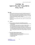 Giáo trình quản lý dự án - Chương 9