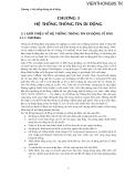 Bài giảng môn hệ thống viễn thông - Chương 3