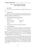 Thí nghiệm Công nghệ thực phẩm - Chương 2 Công nghệ lên men - Bài 2