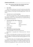 Thí nghiệm Công nghệ thực phẩm - Chương 2 Công nghệ lên men - Bài 3