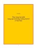 Đề tài: Thực trạng lạm phát trong quá trình tăng trưởng kinh tế ở Việt Nam