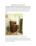 Không gian thờ cúng trong nhà ở hiện đại
