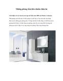 Những phòng tắm tiêu chuẩn châu âu