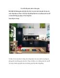 Các kiểu bếp nhỏ xinh và đơn giản