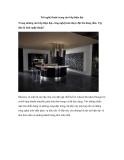 Nét nghệ thuật trong căn bếp hiện đại