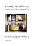 Bếp đơn giản cho gia đình hiện đại