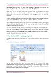 GIÁO TRÌNH Tìm hiểu Microsoft Excel 2007 phiên bản tiếng việt(Lê Văn Hiếu) - 2
