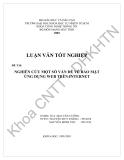 Nghiên cứu một số vấn đề về bảo mật ứng dụng web trên Internet (Nguyễn Duy Thắng vs Nguyễn Minh Thu) - 1
