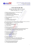 Ngân hàng đề thi Hệ thống thông tin quản lý ngành điện tử viễn thông - 1