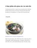 6 thực phẩm siêu giảm cân trong mùa thu