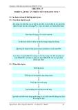 Các bước cơ bản để thiết lập một dự án