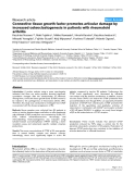 """Báo cáo y học: """"Connective tissue growth factor promotes articular damage by increased osteoclastogenesis in patients with rheumatoid arthritis"""""""