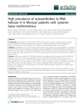 """Báo cáo y học: """"High prevalence of autoantibodies to RNA helicase A in Mexican patients with systemic lupus erythematosus"""""""