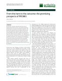 """Báo cáo y học: """"From the item to the outcome: the promising prospects of PROMIS"""""""