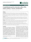 "Báo cáo y học: ""A peptidyl-glucosamine derivative affects IKKa kinase activity in human chondrocytes"""
