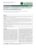 "Báo cáo y học: "" Interleukin-17A upregulates receptor activator of NF-κB on osteoclast precursor"""