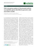 "Báo cáo y học: "" DNA microarray analysis of rheumatoid arthritis susceptibility genes identified by genome-wide association studies"""