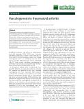 """Báo cáo y học: """"Vasculogenesis in rheumatoid arthritis"""""""