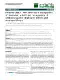 "Báo cáo y học: ""Influence of HLA DRB1 alleles in the susceptibility of rheumatoid arthritis and the regulation of antibodies against citrullinated proteins and rheumatoid factor"""