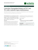 """Báo cáo y học: """"Correction: Dysregulated balance of Th17 and Th1 cells in systemic lupus erythematosus"""""""