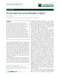 "Báo cáo y học: ""Do we need new autoantibodies in lupus"""