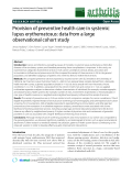 """Báo cáo y học: """"Provision of preventive health care in systemic lupus erythematosus: data from a large observational cohort study"""""""