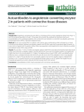 """Báo cáo y học: """"Autoantibodies to angiotensin-converting enzyme 2 in patients with connective tissue diseases"""""""