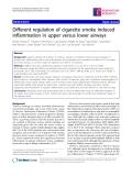 "Báo cáo y học: "" Different regulation of cigarette smoke induced inflammation in upper versus lower airways"""
