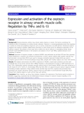 """Báo cáo y học: """"Expression and activation of the oxytocin receptor in airway smooth muscle cells: Regulation by TNFa and IL-13"""""""