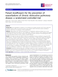 "Báo cáo y học: ""Pulsed moxifloxacin for the prevention of exacerbations of chronic obstructive pulmonary disease: a randomized controlled trial"""