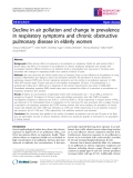 """Báo cáo y học: """" Decline in air pollution and change in prevalence in respiratory symptoms and chronic obstructive pulmonary disease in elderly women"""""""