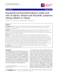 """Báo cáo y học: """"Household environmental tobacco smoke and risks of asthma, wheeze and bronchitic symptoms among children in Taiwan"""""""