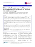 """Báo cáo y học: """" Differential cell reaction upon Toll-like receptor 4 and 9 activation in human alveolar and lung interstitial macrophages"""""""