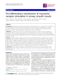 """Báo cáo y học: """"  Pro-inflammatory mechanisms of muscarinic receptor stimulation in airway smooth muscle"""""""
