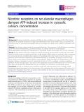 "Báo cáo y học: "" Nicotinic receptors on rat alveolar macrophages dampen ATP-induced increase in cytosolic calcium concentration"""