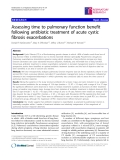 """Báo cáo y học: """" Assessing time to pulmonary function benefit following antibiotic treatment of acute cystic fibrosis exacerbations"""""""
