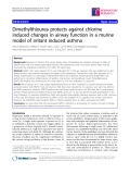 """Báo cáo y học: """" Dimethylthiourea protects against chlorine induced changes in airway function in a murine model of irritant induced asthma"""""""