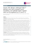 """Báo cáo y học: """"Chronic OVA allergen challenged Siglec-F deficient mice have increased mucus, remodeling, and epithelial """""""