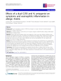 """Báo cáo y học: """"Effects of a dual CCR3 and H1-antagonist on symptoms and eosinophilic inflammation in allergic rhinitis"""""""
