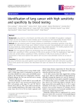 """Báo cáo y học: """"Identification of lung cancer with high sensitivity and specificity by blood testing"""""""