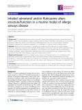 "Báo cáo y học: "" Inhaled salmeterol and/or fluticasone alters structure/function in a murine model of allergic airways disease"""