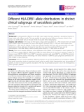 "Báo cáo y học: "" Different HLA-DRB1 allele distributions in distinct clinical subgroups of sarcoidosis patients"""