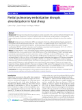 "Báo cáo y học: ""Partial pulmonary embolization disrupts alveolarization in fetal sheep"""