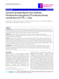 "Báo cáo y học: ""Cytosolic phospholipase A2α mediates Pseudomonas aeruginosa LPS-induced airway constriction of CFTR -/- mice"""