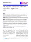 "Báo cáo y học: "" Early phase resolution of mucosal eosinophilic inflammation in allergic rhinitis"""