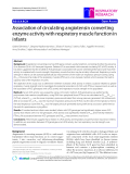 """Báo cáo y học: """"Association of circulating angiotensin converting enzyme activity with respiratory muscle function in infants"""""""